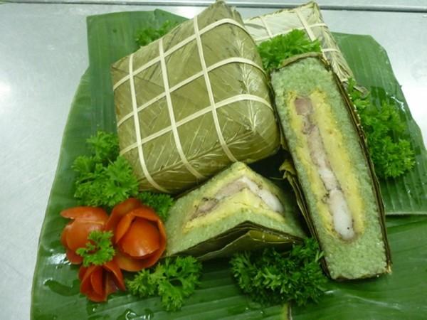 Cách gói bánh chưng xanh tự nhiên cho ngày Tết cổ truyền - cach goi banh chung