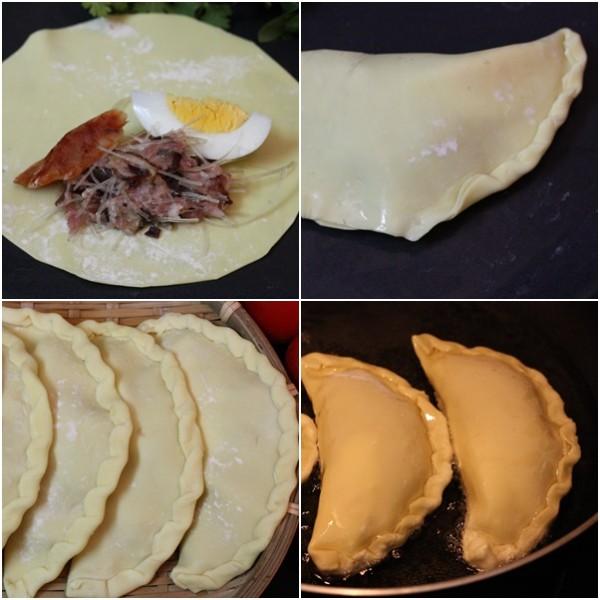 Cách làm bánh gối ngon - thực hiện gói và chiên bánh gối