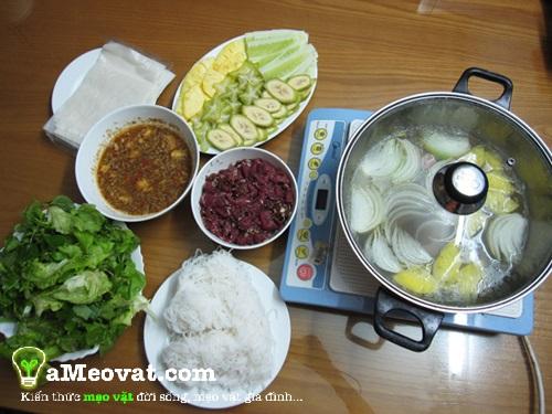 Cách làm bò nhúng dấm - Nguyên liệu cần chuẩn bị cho món bò nhúng dấm