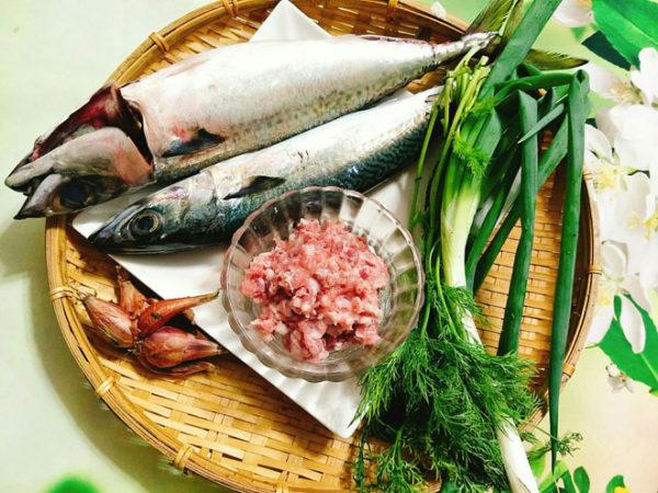 Nguyên liệu làm chả cá thu - làm chả cá thu
