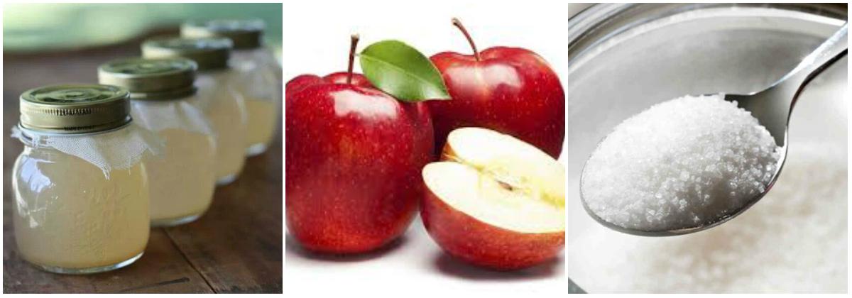 giấm táo - Nguyên liệu cần chuẩn bị để làm giấm táo