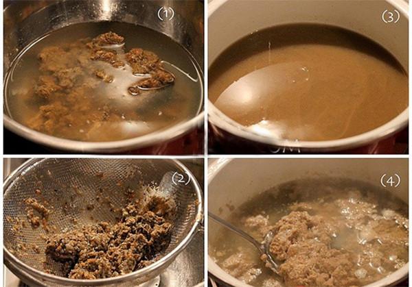 Nấu nước riêu cua - cách làm lẩu sườn sụn