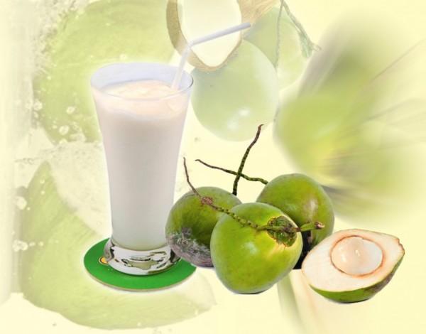 Cách làm sinh tố dừa, cách xay sinh tố dừa mát lành - sinh tố dừa