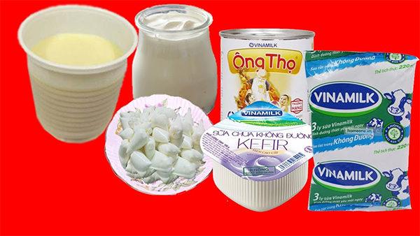 Nguyên liệu làm sữa chua không đường - làm sữa chua không đường
