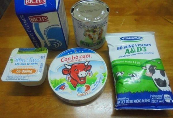 Nguyên liệu làm sữa chua phô mai - cách làm sữa chua phô mai đà lạt