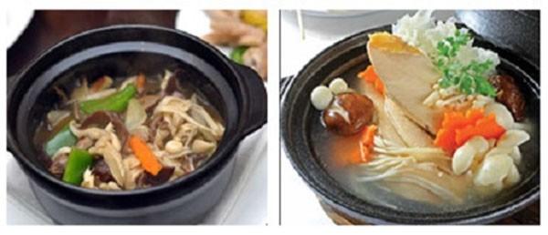 Món canh gà nấm -cách nấu canh gà nấm - cach nau canh ga