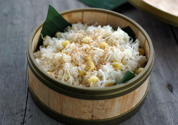 3 Cách nấu xôi dừa thơm ngon không khó ngay tại nhà - xôi dừa hạt sen