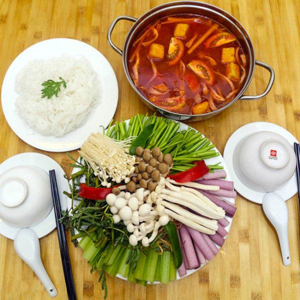 Cách nấu lẩu chay thập cẩm