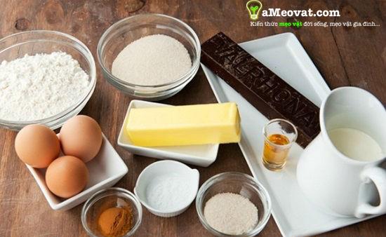 Cách làm bánh bông lan trứng muối, Nguyên liệu và dụng cụ làm bánh bông lan, cach lam banh bong lan