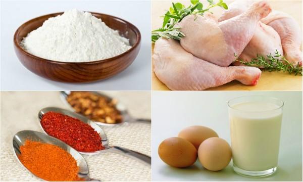 canh ga chien - Nguyên liệu làm gà rán