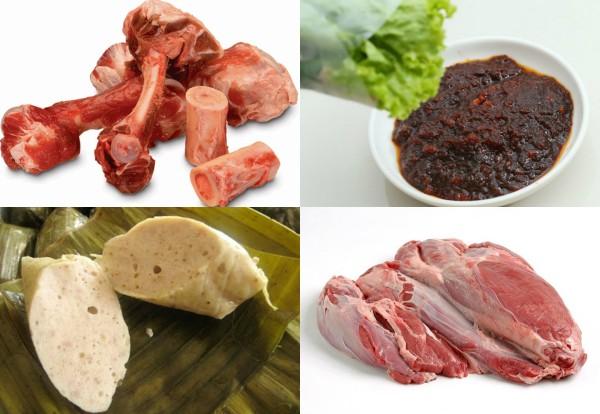 cach nau bun bo hue - Nguyên liệu cần chuẩn bị để nấu bún bò Huế