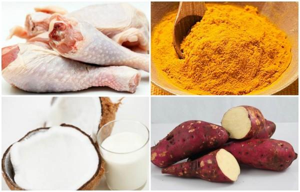 cà ri gà - Nguyên liệu cần chuẩn bị để nấu cà ri gà