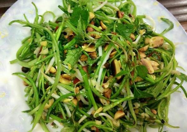 Nộm rau muống ăn cực ngon ngày hè - cach lam nom rau muong