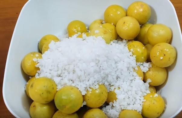 chanh và muối trắng