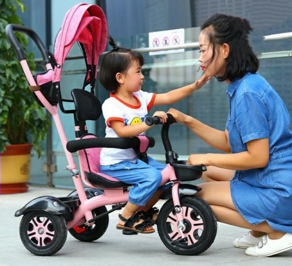 Xe đạp 3 bánh có cần đẩy cho bé