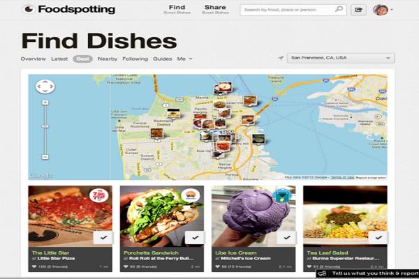 Ứng dụng Foodspotting cho dân phượt