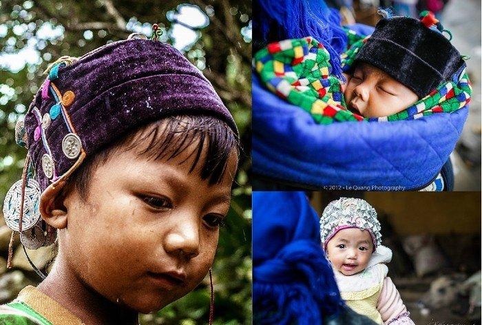 Những chiếc mũ cực bắt mắt của các em bé Hà Nhì ở Tây Bắc