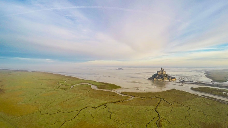 Đảo Mont-Saint-Michel, Normandie, Pháp.