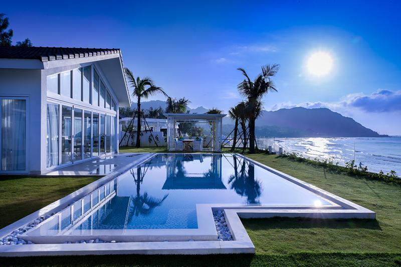Villas ở đây đều có hồ bơi riêng - Ảnh: Alma Oasis Long Hải