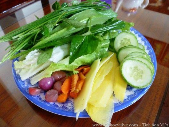 rau ăn kèm nem nướng