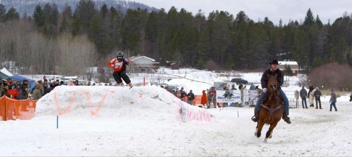 Skijoring ở Whitefish