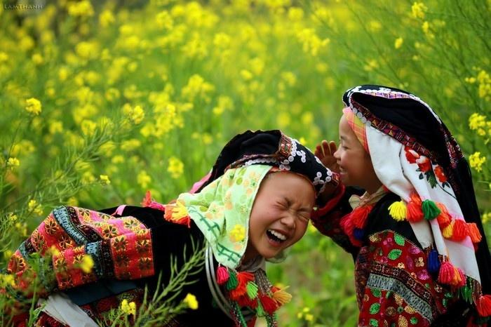 Tia nắng của hoa và nụ cười tỏa sáng ngày đông xám lạnh