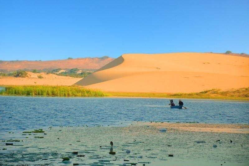 Bức tranh hữu tình ở Bàu Trắng và cốn cát