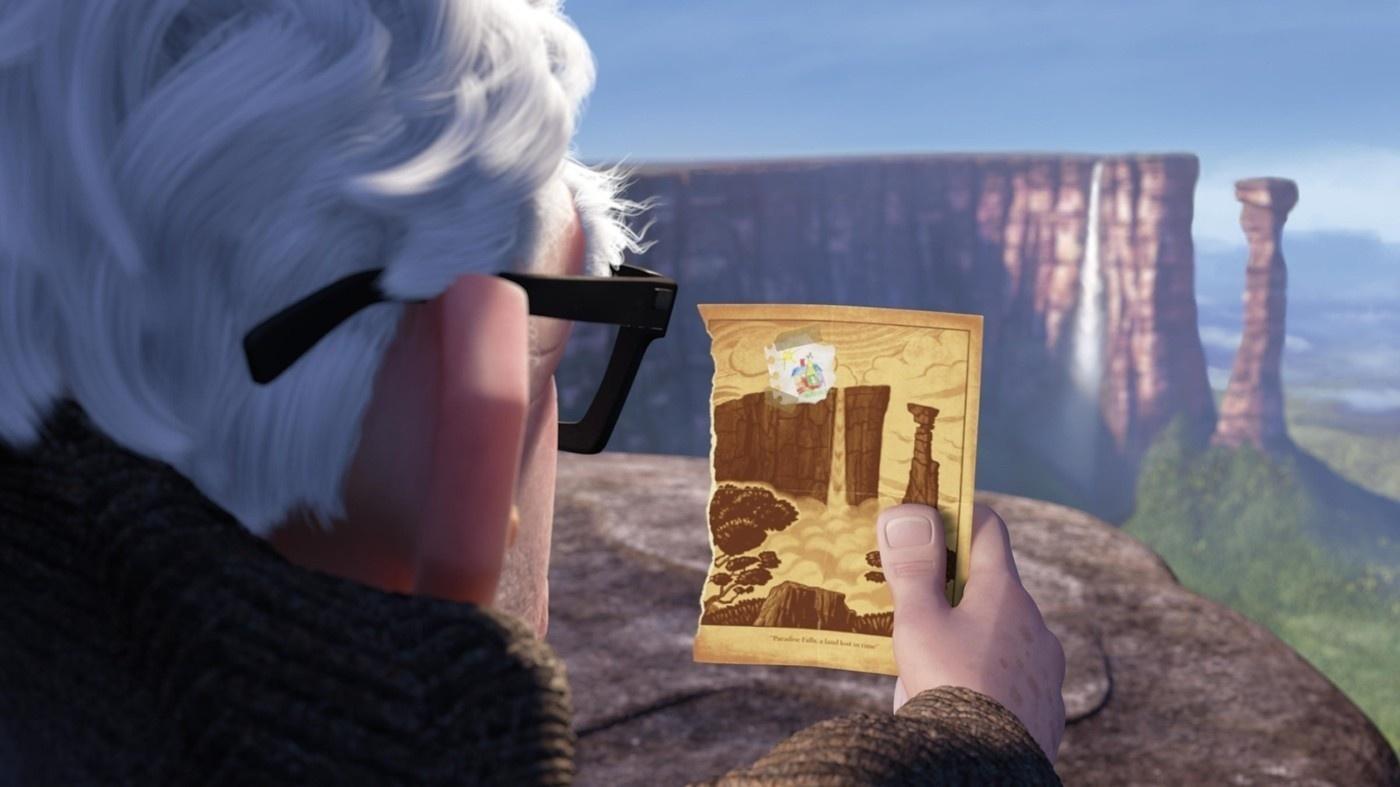Ngọn núi Roraima là hình ảnh trong bộ phim hoạt hình nổi tiếng Up