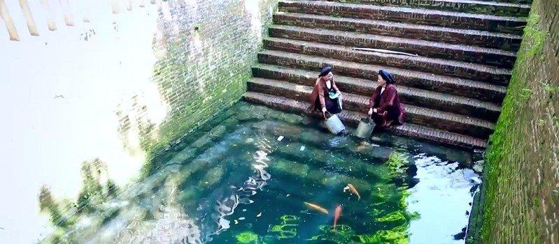 Giếng Ngọc gắn bó với đời sống của người dân làng Diềm từ xưa đến nay