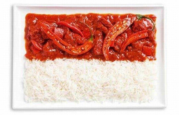 Lá cờ ẩm thực Indonesia