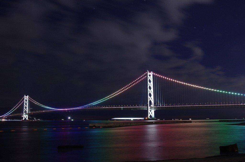 Cây cầu mỹ miều bắc qua dòng sông