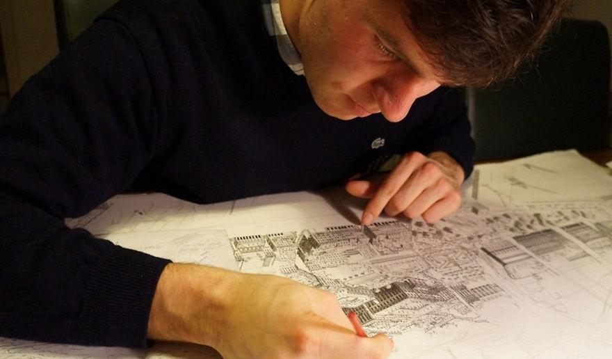 Anh sống ở Hà Lan nhưng thường xuyên du lịch đến các thành phố ở châu Âu và Mỹ để tìm cảm hứng.
