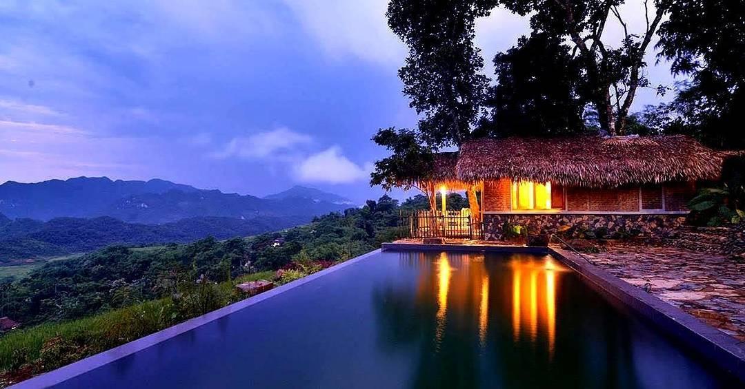 Puluong Retreat mở ra một khung cảnh tuyệt đẹp với view từ trên cao - Ảnh: @vietsoultours