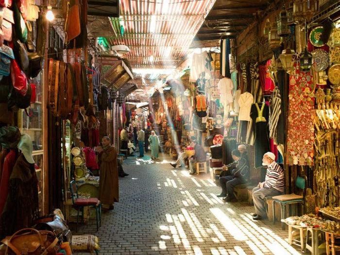 Khu chợ cũ ở Marrekech