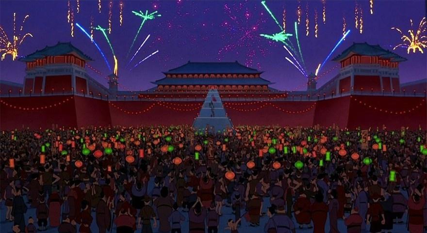 Cung điện trong bộ phim Hua Mulan