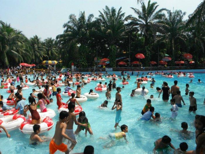 Công viên nước Đầm Sen - điểm hẹn tránh nóng tuyệt vời của người dân Sài thành