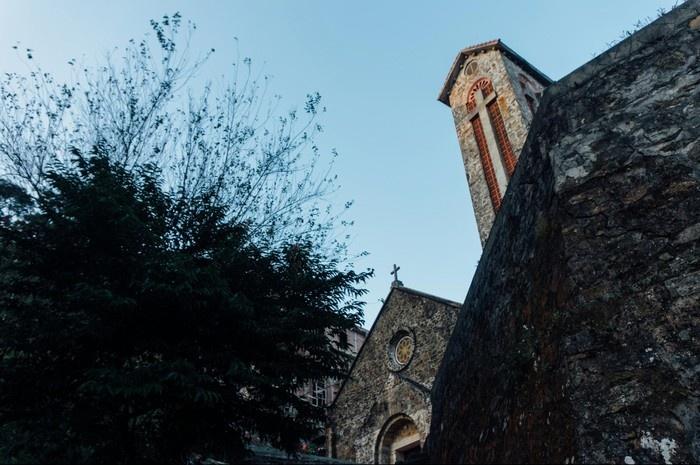 Chiều buông khu nhà thờ cổ Tam Đảo