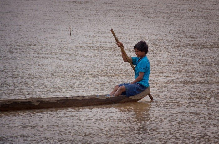 Dòng sông gắn liền với những năm tháng tuổi thơ của trẻ em Kon Tum