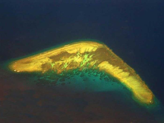 Đảo boomerang thuộc cụm quần đảo Trường Sa - Việt Nam