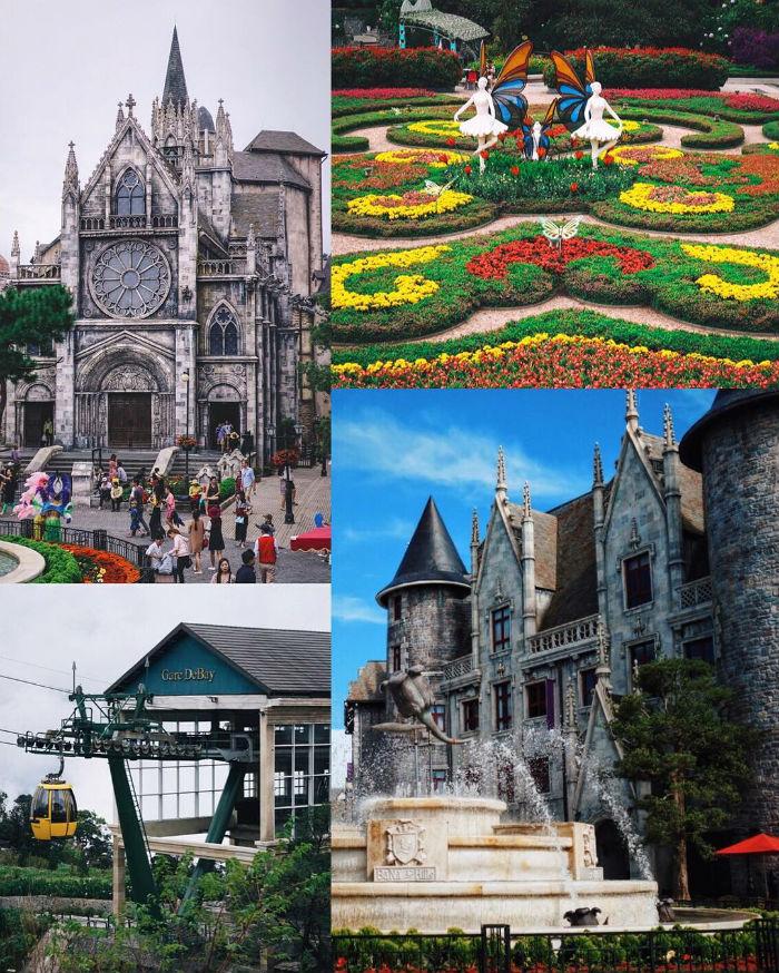 Ngôi làng Âu châu cổ kính bên vườn hoa - Ảnh: @eatandtreats