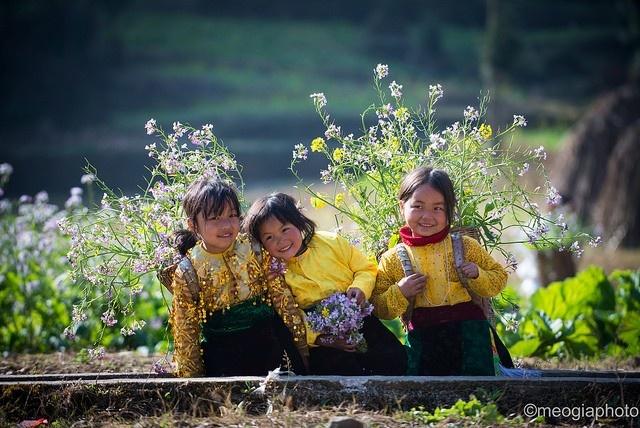Nụ cười trẻ thơ những ngày xuân Hà Giang về