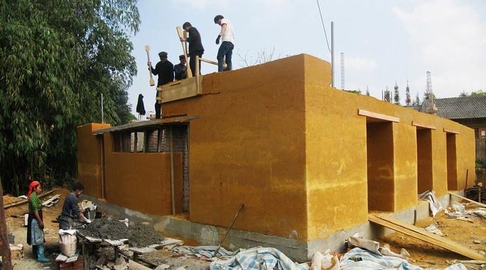 Phương pháp xây dựng này có thể chống xói mòn, vừa mát vào mùa hè vừa ấm vào mùa đông Hà Giang
