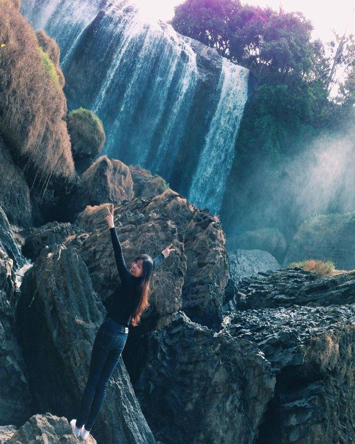 Vậy nên mỗi lần tới thị trấn Nam Ban, người ta lại cố tìm về thác Voi xinh đẹp - Ảnh: Po.nggggg