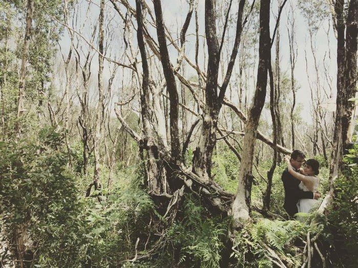 Khung ảnh cưới mới lạ, độc đáo - Ảnh: Instagram @marina.tran