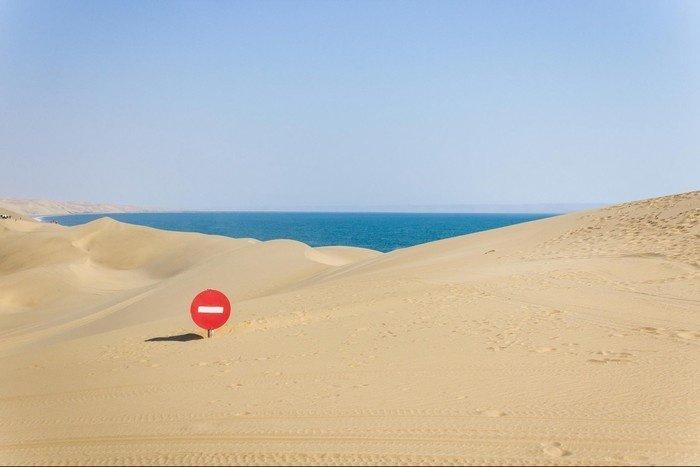 Namib - Điểm giao giữa sa mạc và biển cả chỉ cách một vài cồn cát