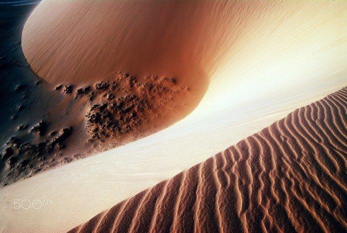 Hoàng hôn buông trên phần đồi cát giao biển ở Mũi Né