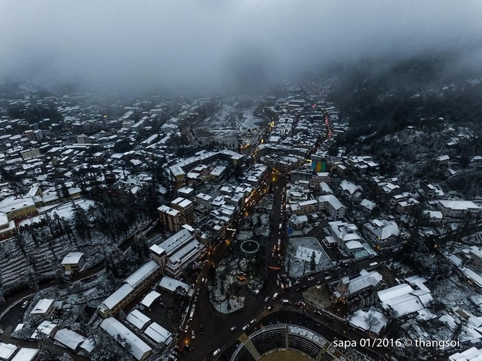 Sapa bồng bềnh trong sương mây và tuyết