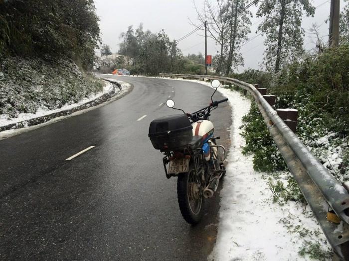 Đường đèo Sapa tuyết trắng