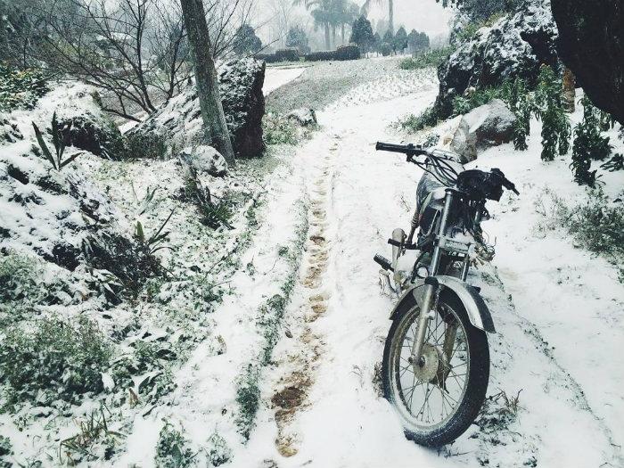 Những con đường Sa Pa tuyết phủ