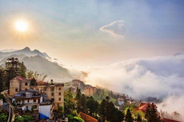 Một thị trấn nhỏ Sapa quanh năm chìm trong sương mù mờ ảo